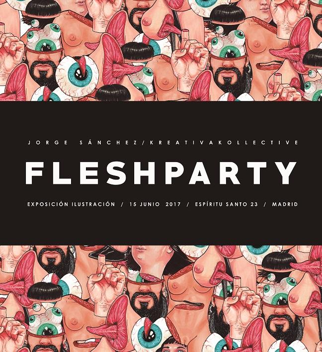 Fleshparty exposición café Espíritu23