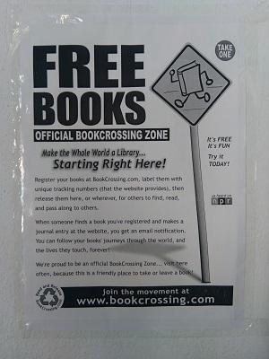 Cartel libros gratis BookCrossing Espíritu23