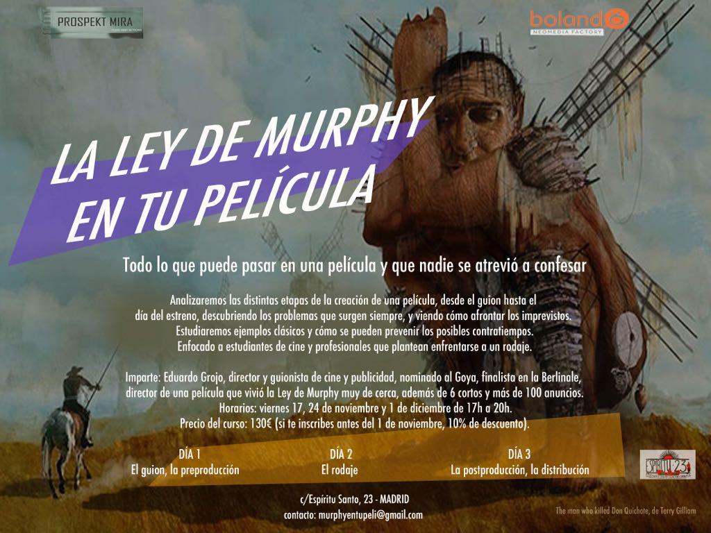 taller La ley de murphy de Eduardo grojo en Espíritu23